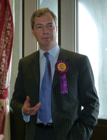 Nigel Farage speaking