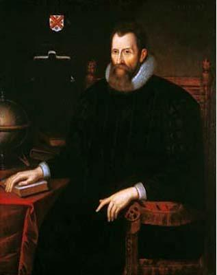Oil painting of John Napier