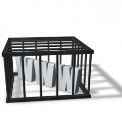 www in a cage